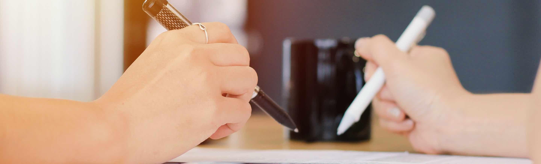 foto - Plaatsen van handtekening