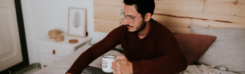 foto - Man drinkt koffie
